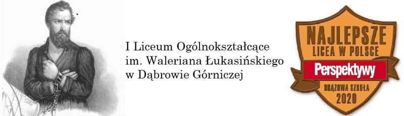 Logo for I Liceum Ogólnokształcące im. Waleriana Łukasińskiego w Dąbrowie Górniczej